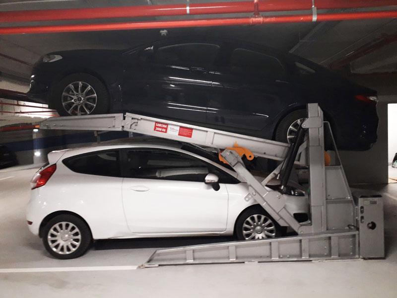 parcare etajată platormă inclinata