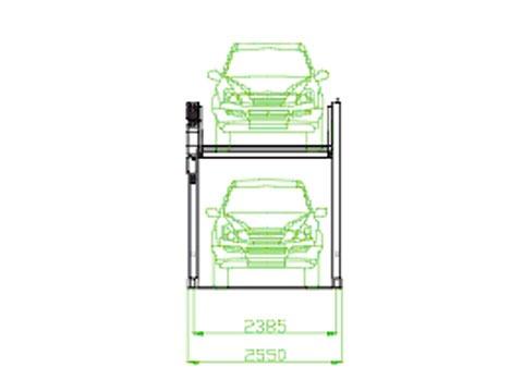 parcare etajată platormă orizontală